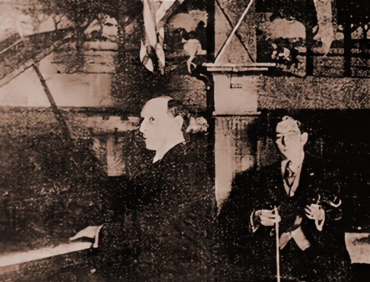 mike bernard with violinist steve douglas in san francisco c. 1909