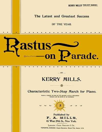 rastus on parade cover